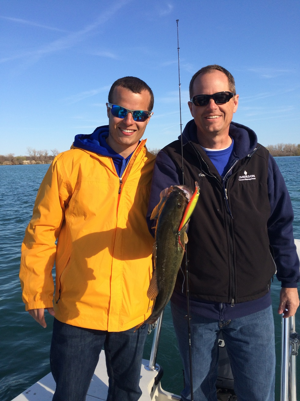 father and son charters on Lake St. Clair
