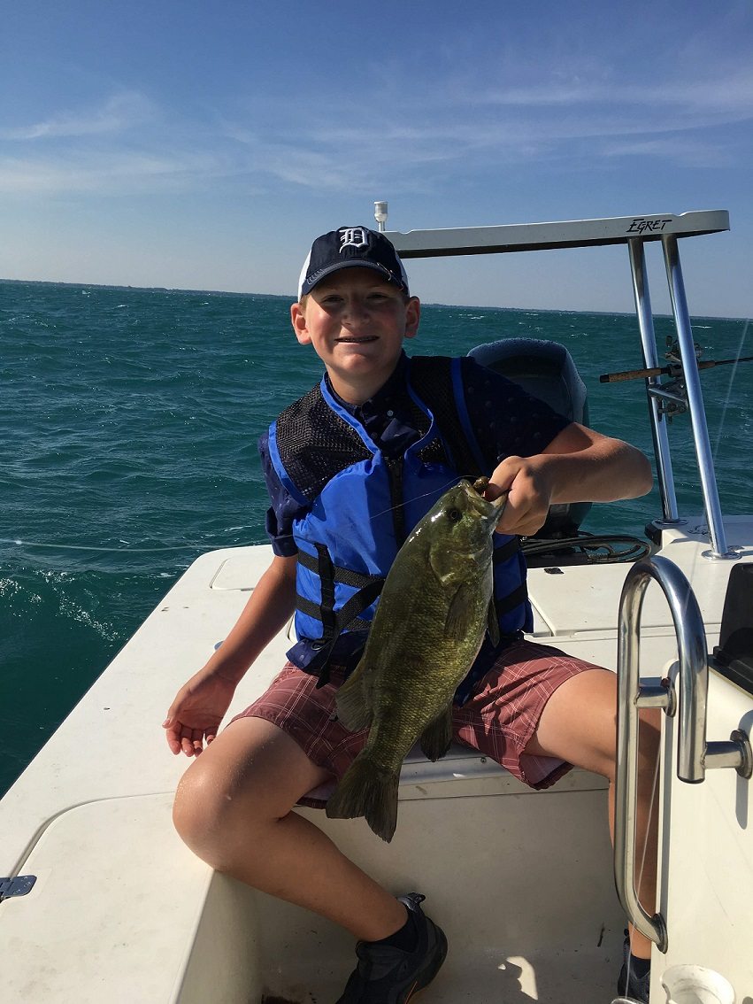 kids fishing charters on Lake St. Clair and the Detroit River