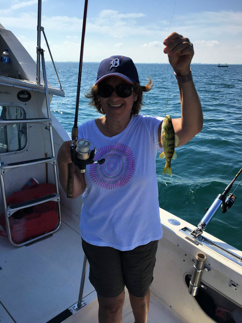 Mrs. Captain of fish bus charters
